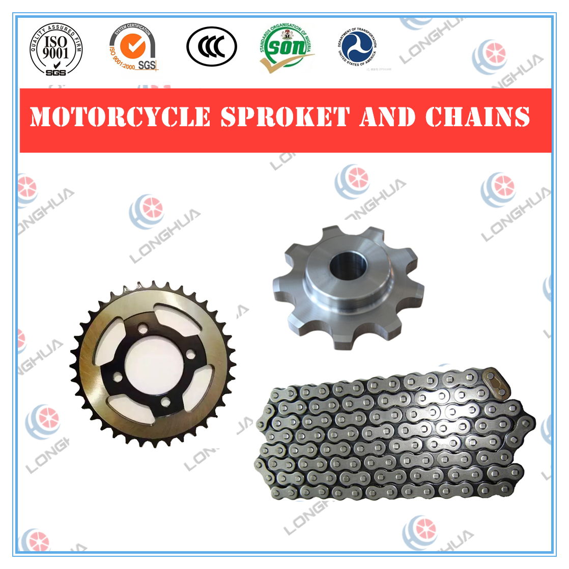 420/428/520/530 O Ring motorcycle parts marine/rigging hardware Motorcycle Conveyor link Roller Chain